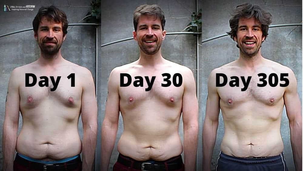 100 Push Ups A Day For 30 Vs 300 Days 10 Month Results
